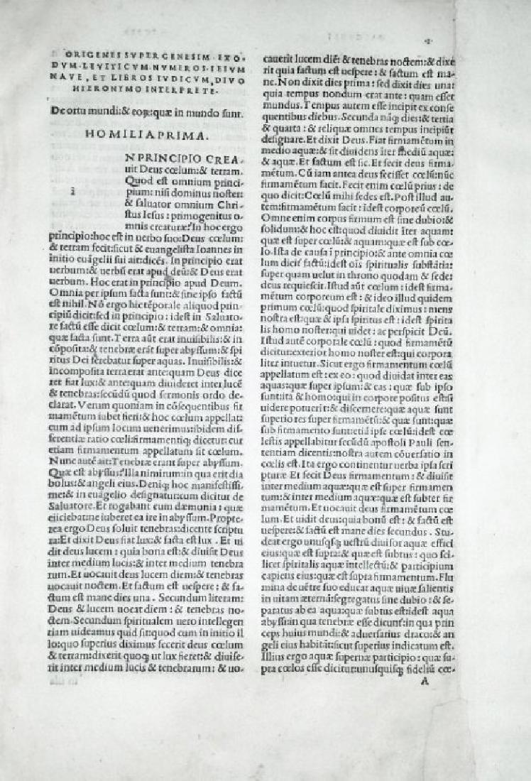[Aldine, Bible exegesis] Origenes 1503 - 3