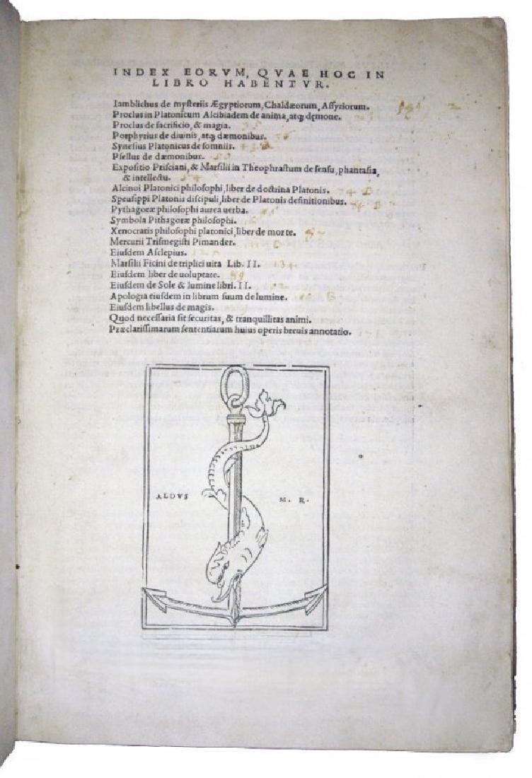[Occult, Hermetism, Aldus] Iamblichus, 1516 - 2