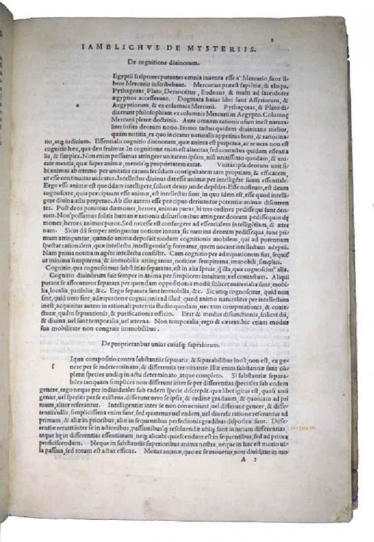 [Occult, Hermetism, Aldus] Iamblichus, 1516 - 4