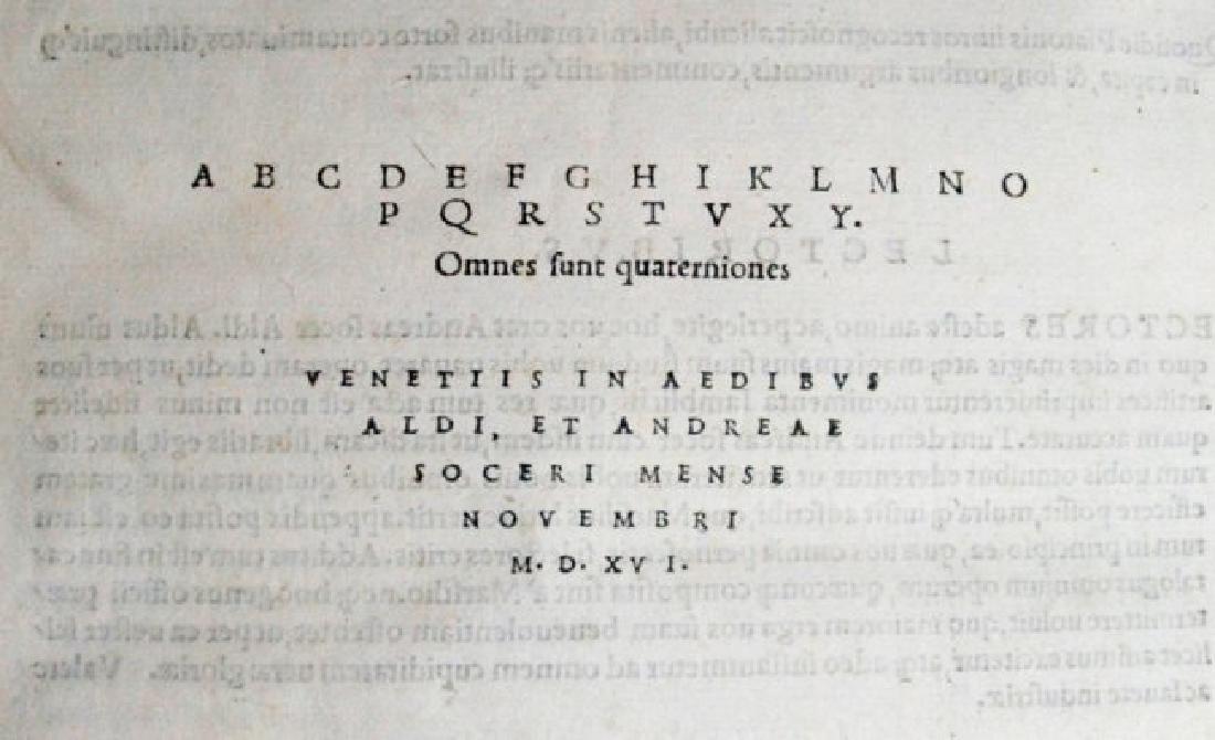 [Occult, Hermetism, Aldus] Iamblichus, 1516 - 6