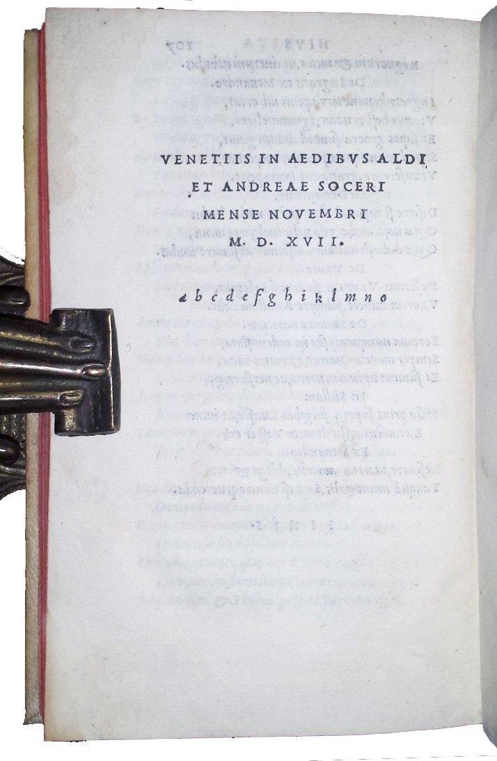 [Aldine, Bordeaux Wine] Ausonius, Opera, 1517 - 3