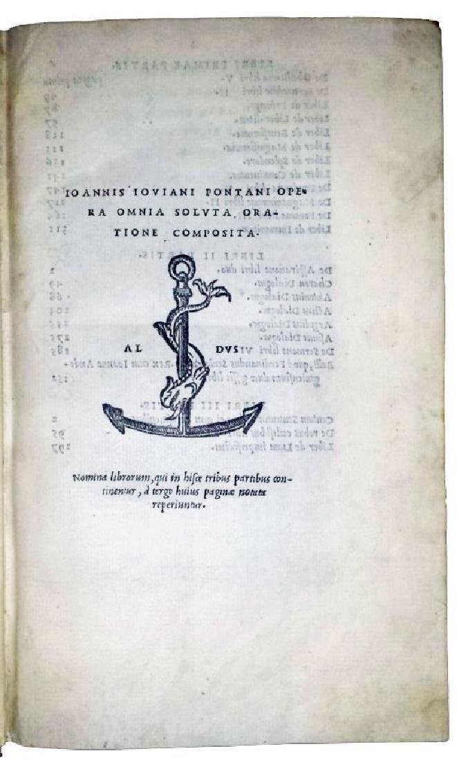 [Astrology, Forbidden Books] Pontano 1518-19, 3 vols