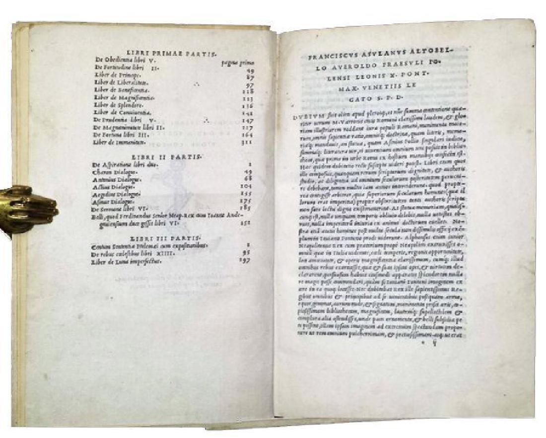 [Astrology, Forbidden Books] Pontano 1518-19, 3 vols - 3