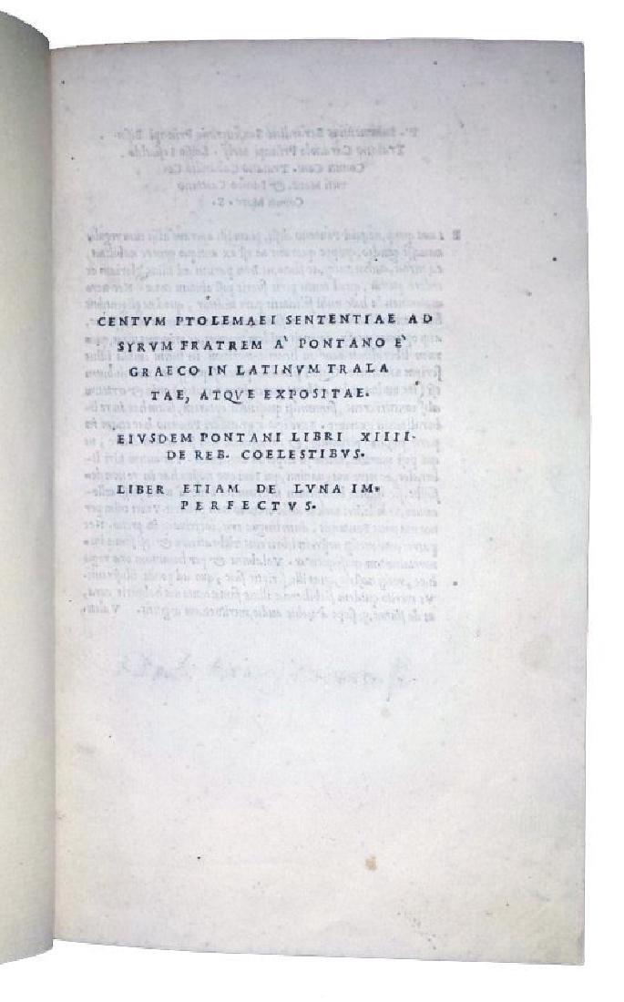 [Astrology, Forbidden Books] Pontano 1518-19, 3 vols - 6