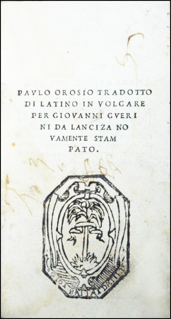 [Hispanic books] Orosius, 1520