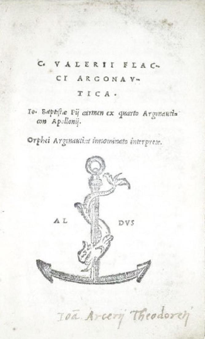 [Argonauts, Aldine] Valerius Flaccus, 1523