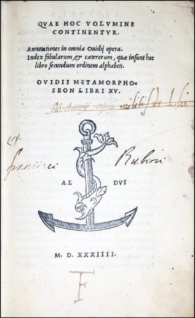[Latin Poetry] Ovidius, 1534