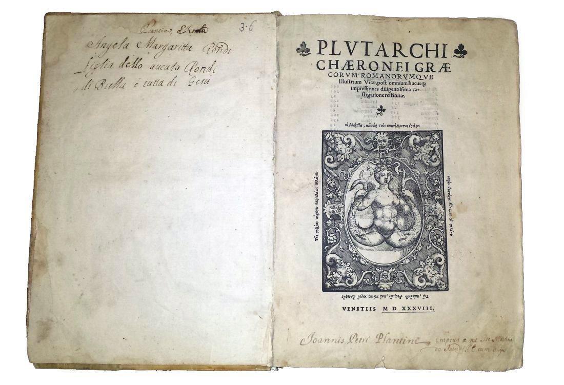 [Greek History, Celebrities] Plutarchus, 1538 - 2