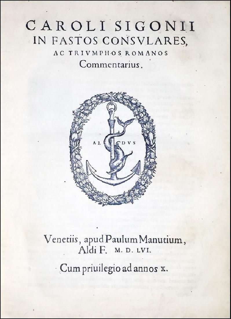 [Roman Chronology, Aldus] Sigonio, Fasti, 1556