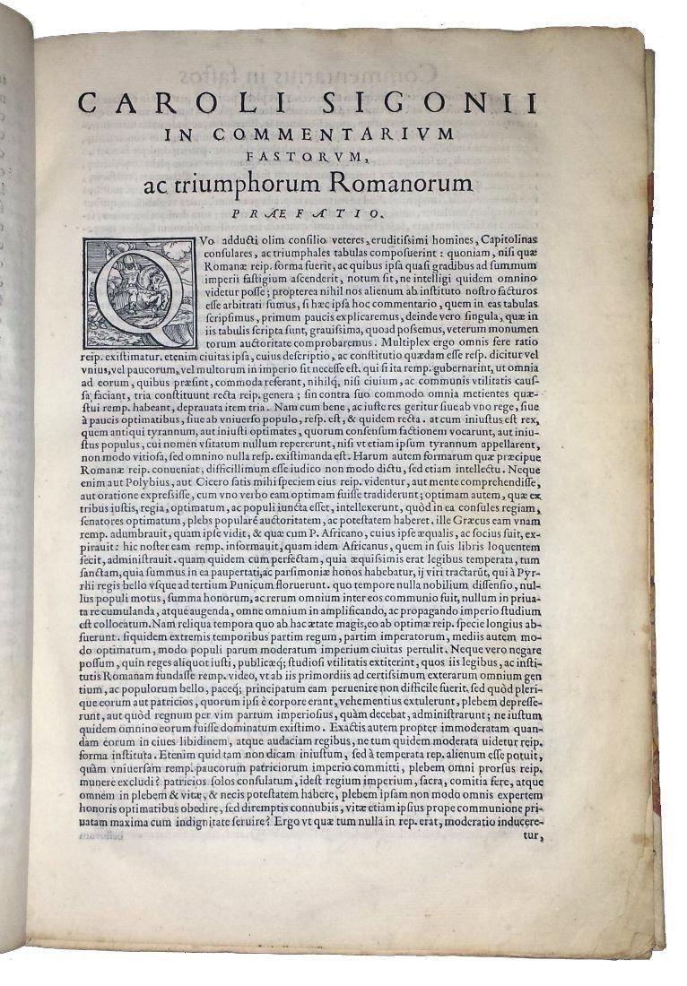[Roman Chronology, Aldus] Sigonio, Fasti, 1556 - 5