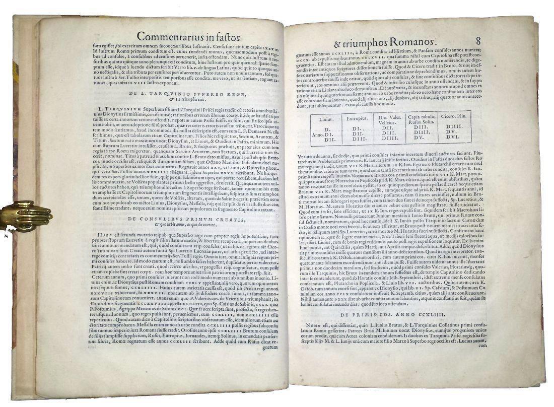 [Roman Chronology, Aldus] Sigonio, Fasti, 1556 - 6