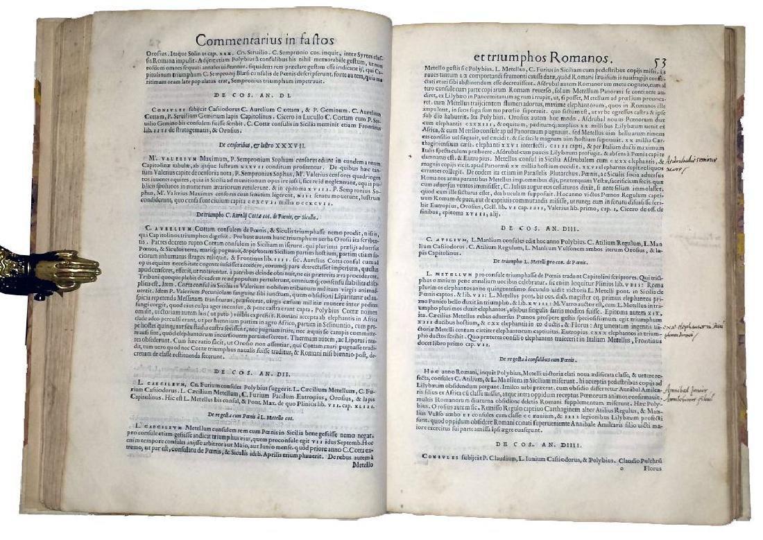 [Roman Chronology, Aldus] Sigonio, Fasti, 1556 - 7