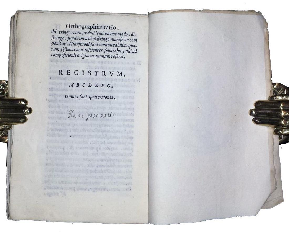 [Aldine, Orthography] Manuzio, Ortographia, 1561 - 6