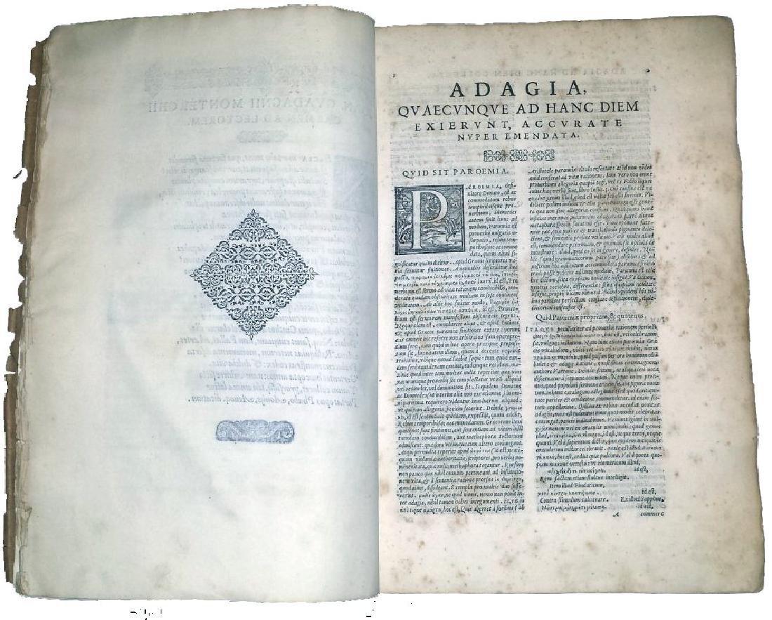 [Erasmus, Adages, Aldus] Manuzio, Adagia, 1575 - 4