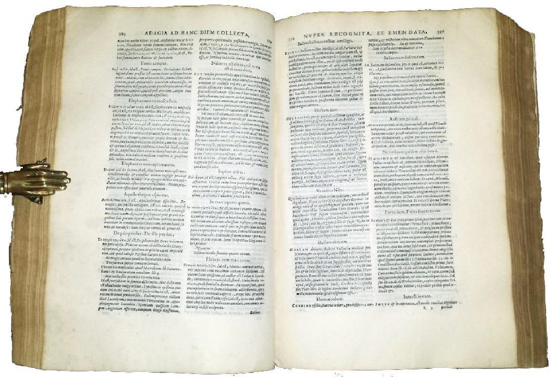 [Erasmus, Adages, Aldus] Manuzio, Adagia, 1575 - 5