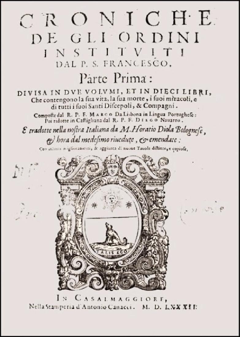 [History of Franciscan Orders] De Lisboa, 3 vols - 2