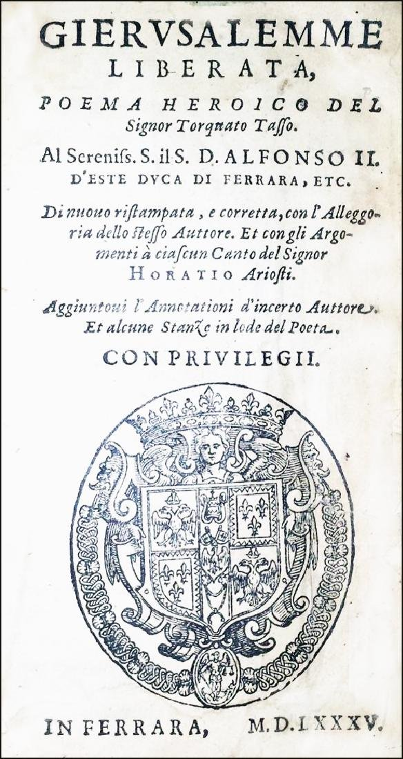 [Epic Poems] Tasso, La Gerusalemme liberata, 1585