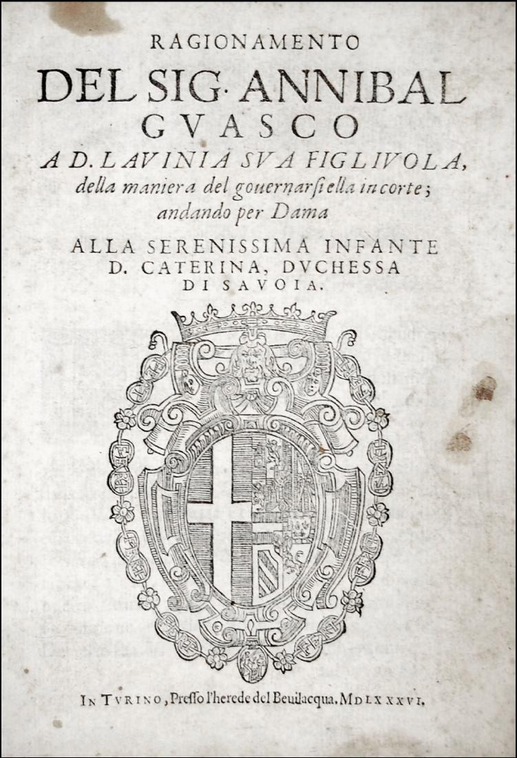 [Courtesy Books, Women] Guasco, Ragionamento, 1586
