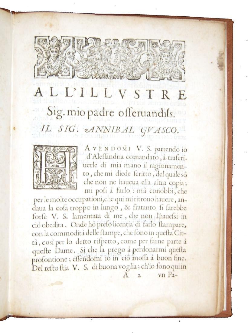 [Courtesy Books, Women] Guasco, Ragionamento, 1586 - 3
