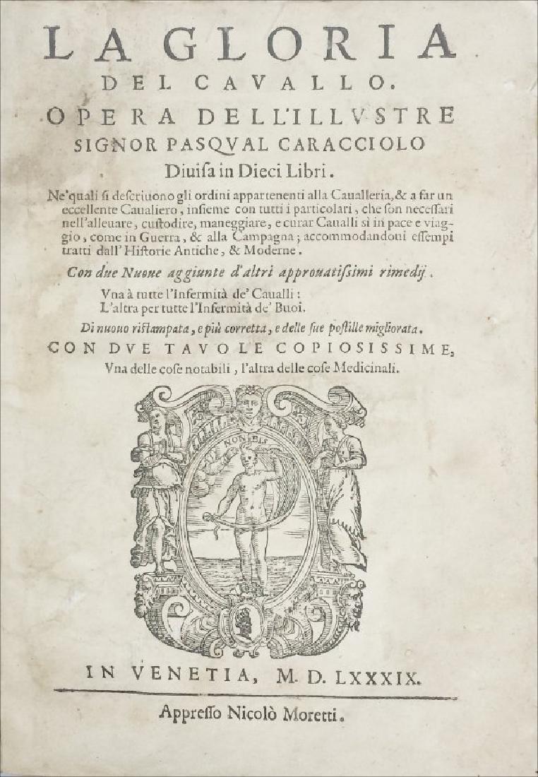 [Horses] Caracciolo, Gloria del cavallo, 1589