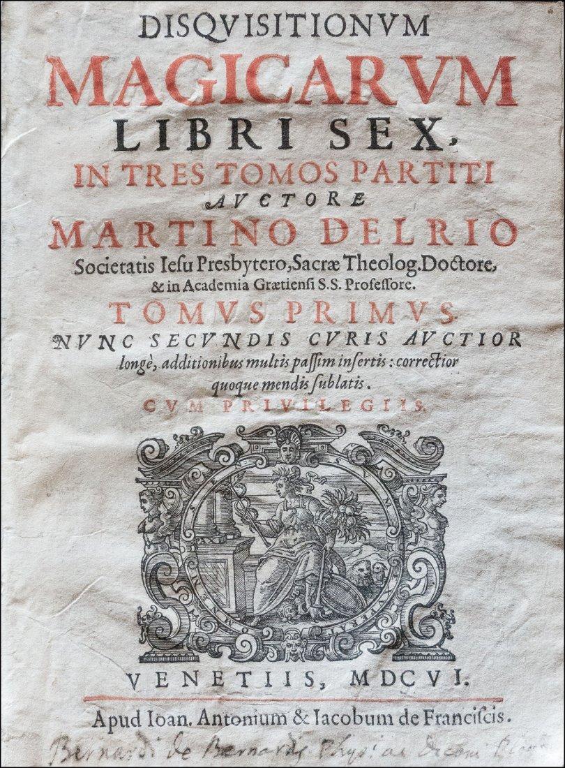 [MAGIC AND WITCHCRAFT] DEL RIO, Magicarum Libri sex