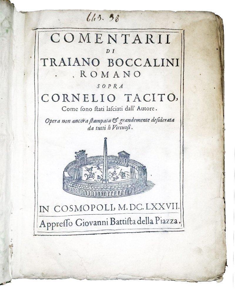 [Roman History, Forbidden Books] Tacitus, 1677