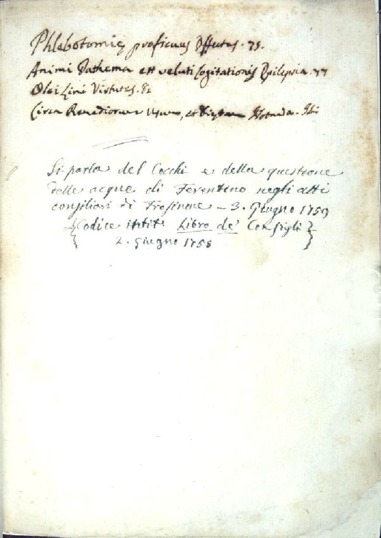 [Medicine, Earthquakes] Cocchi, 1725 - 5