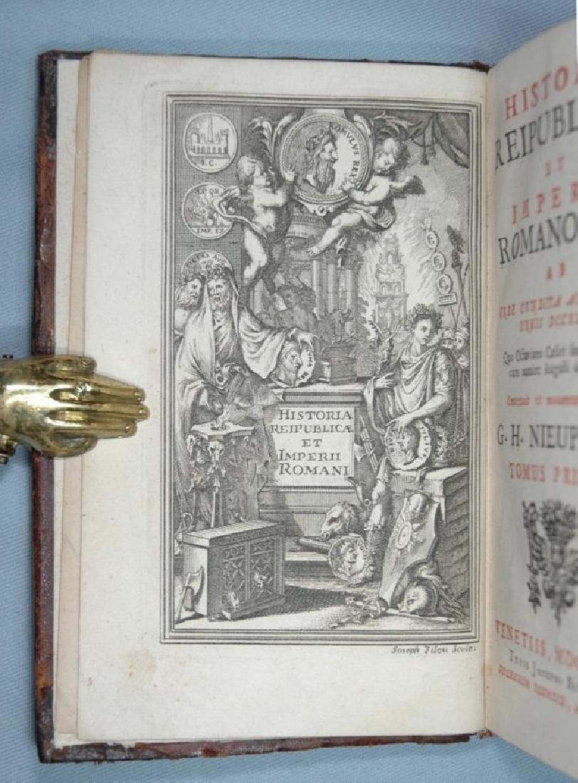[Roman History, Binding] Nieupoort, 1732, 2 vols - 2