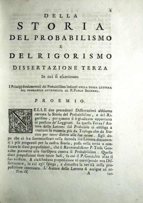 [Probabilism] Concina, 1743, 2 vols - 4