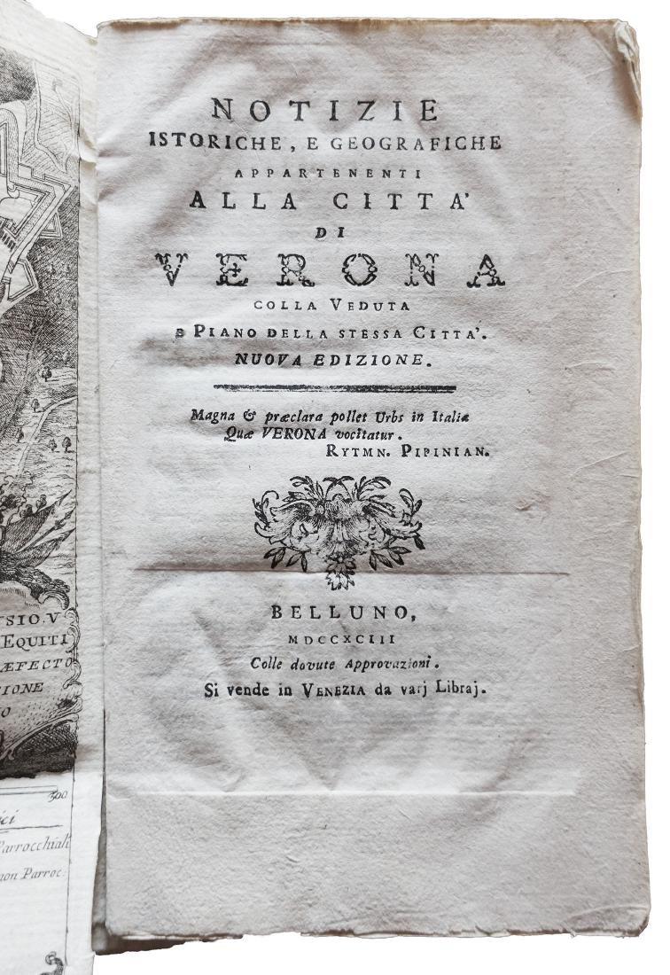[Verona, History] Notizie istoriche Verona, 1793