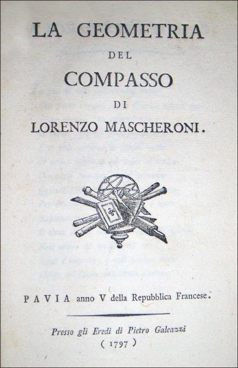 [Geometry, Compass] Mascheroni, 1797