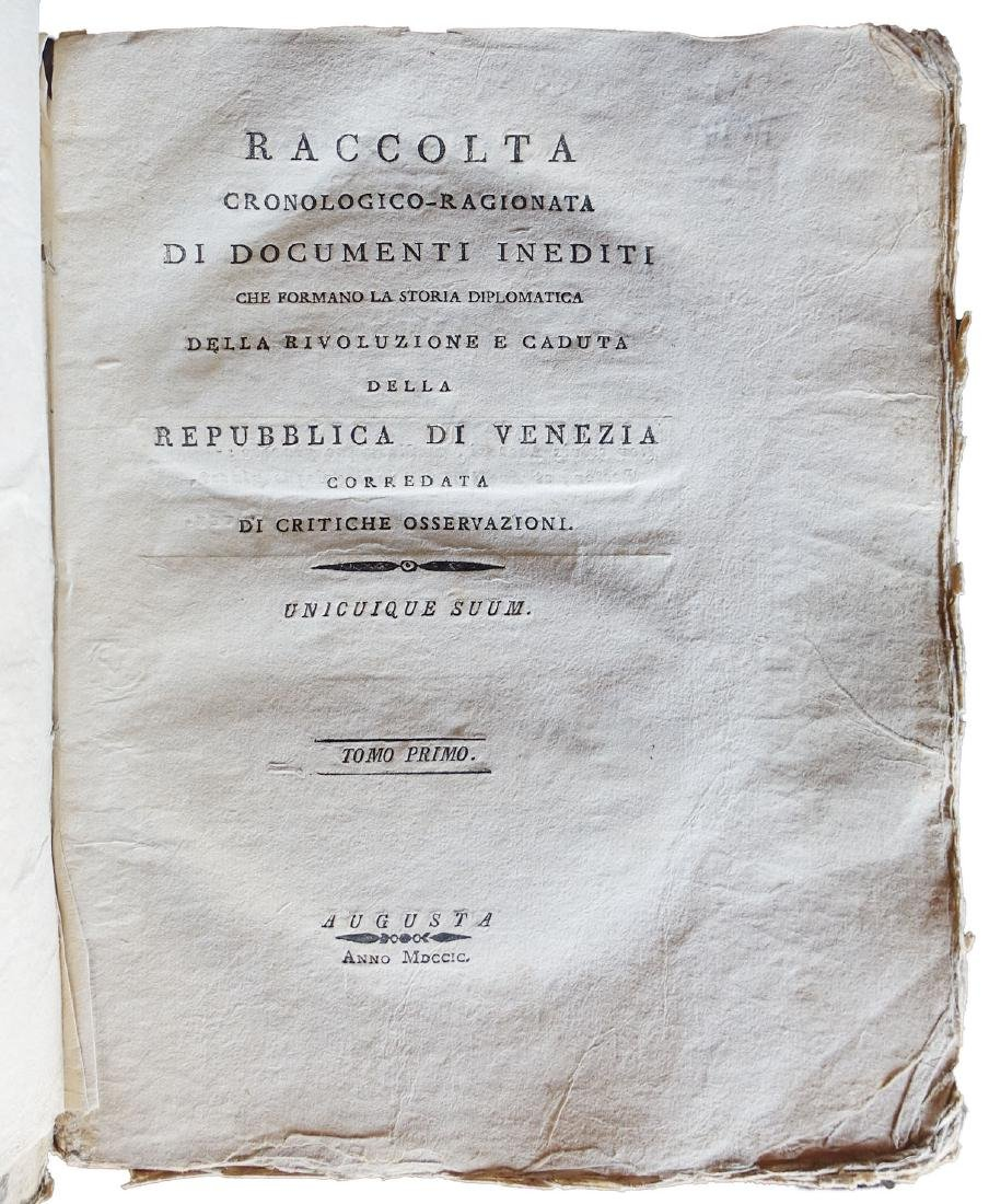 [Venice] Tentori, The revolution in Venice. 1799