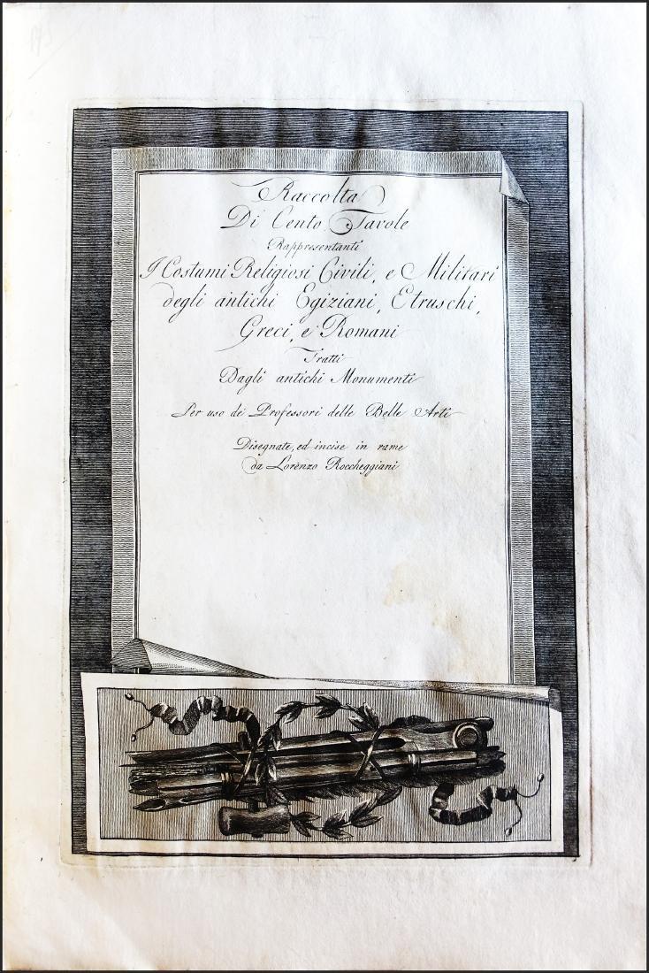 [Egypt, llustrated book] Roccheggiani, 100 Tavole