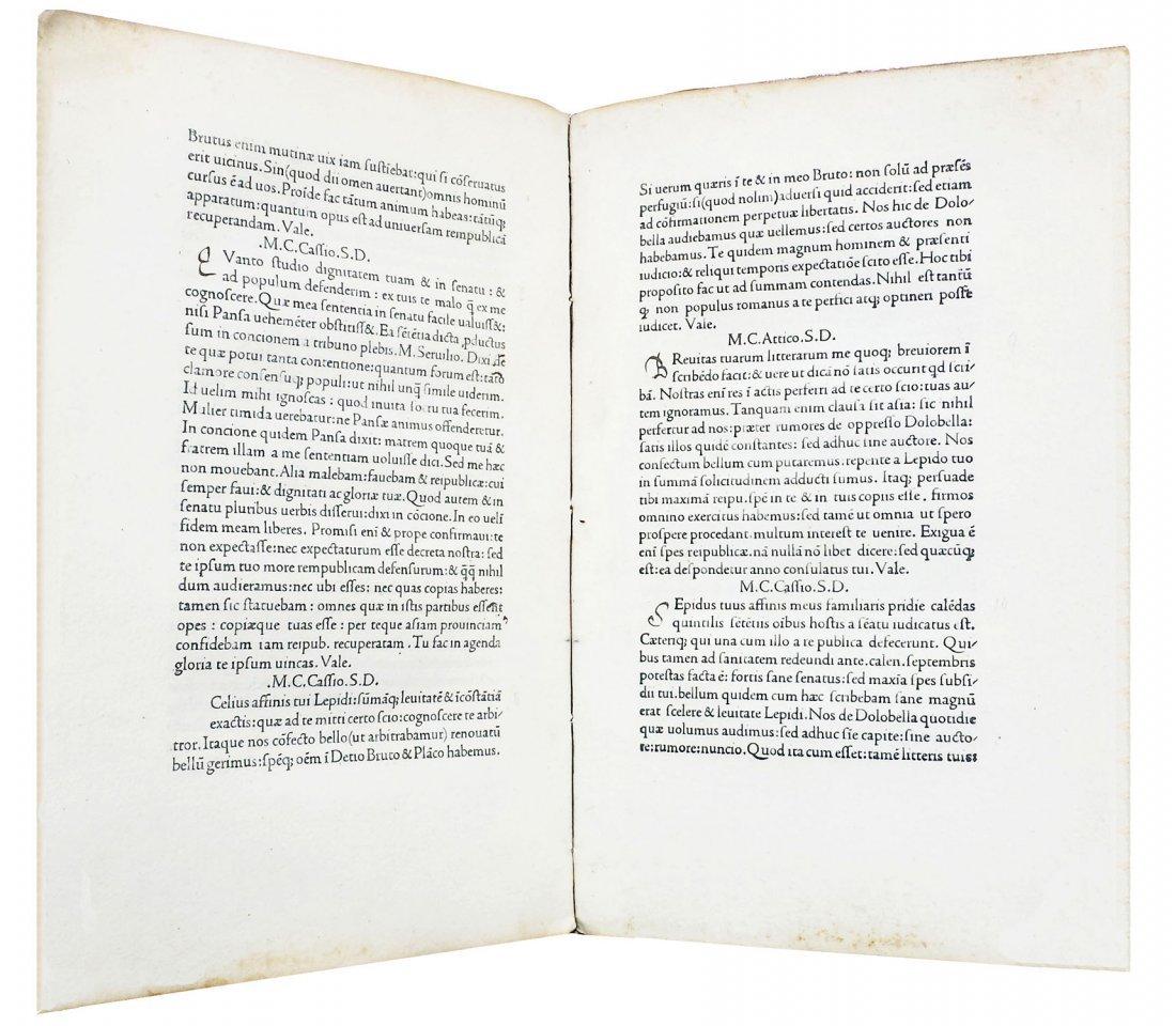 [Incunabula] Cicero, Epistolae ad Familiares, 1471