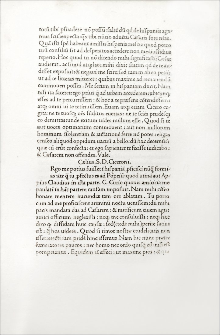 [Incunabula] Cicero, Epistolae ad Familiares, 1471 - 2