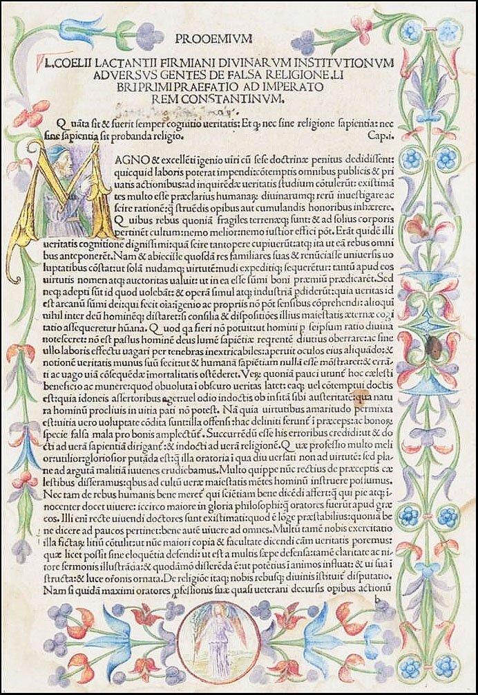 [Incunabula] Lactantius, Opera, 1490