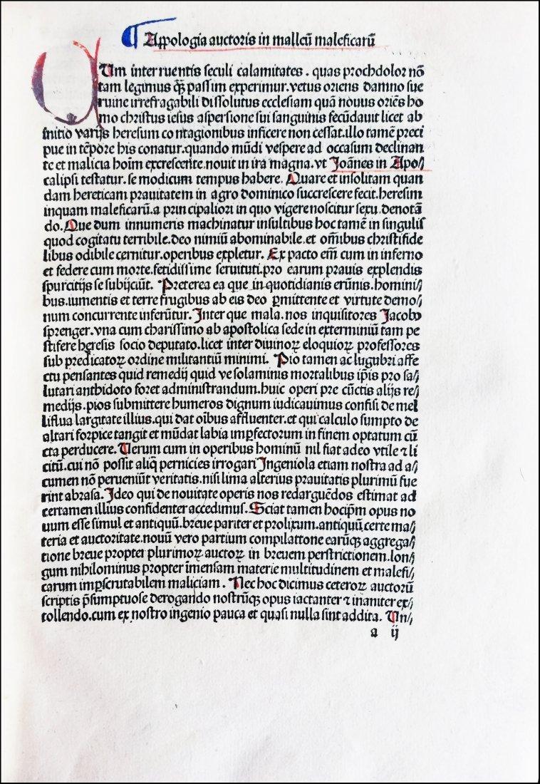 [Incunabula]  Malleus Maleficarum, 1492