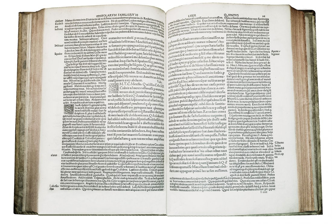 [Incunabula] Cicero, Epistole ad Familiares, 1495