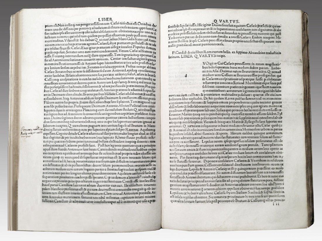 [Incunabula] Appianus, Historia Romana, 1500