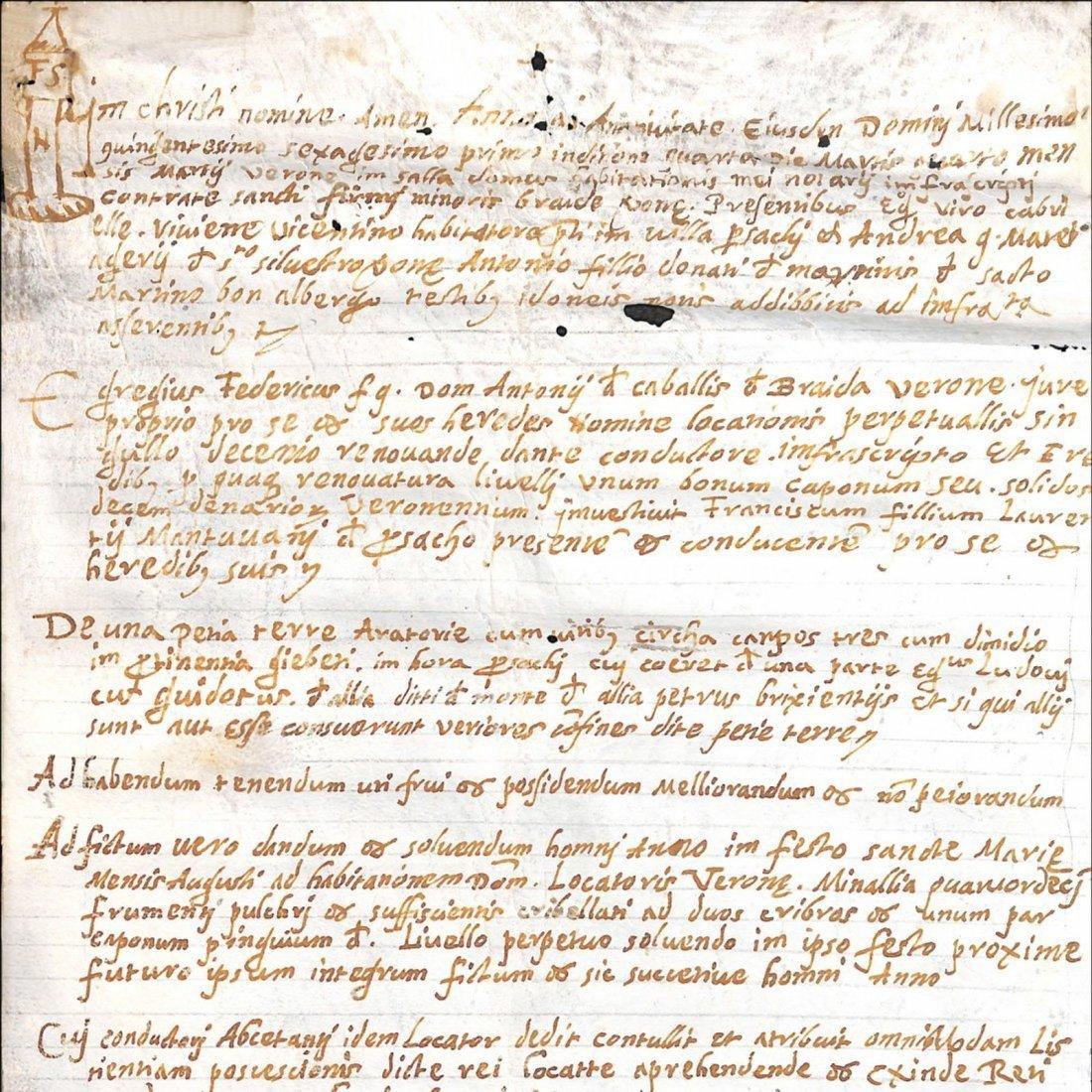 [Manuscripts] Ms on vellum 4 marzo 1561