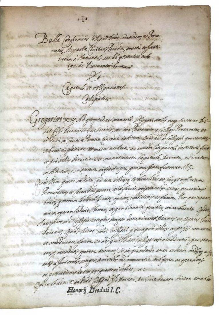[Manuscripts] Ms on paper, Deodati Statuta Perusiae