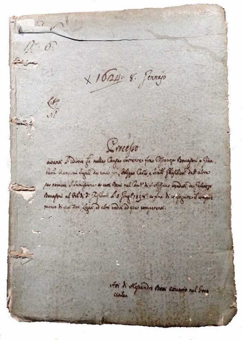 [Manuscripts] Ms on paper, Bonasoni Ghislieri, 1624