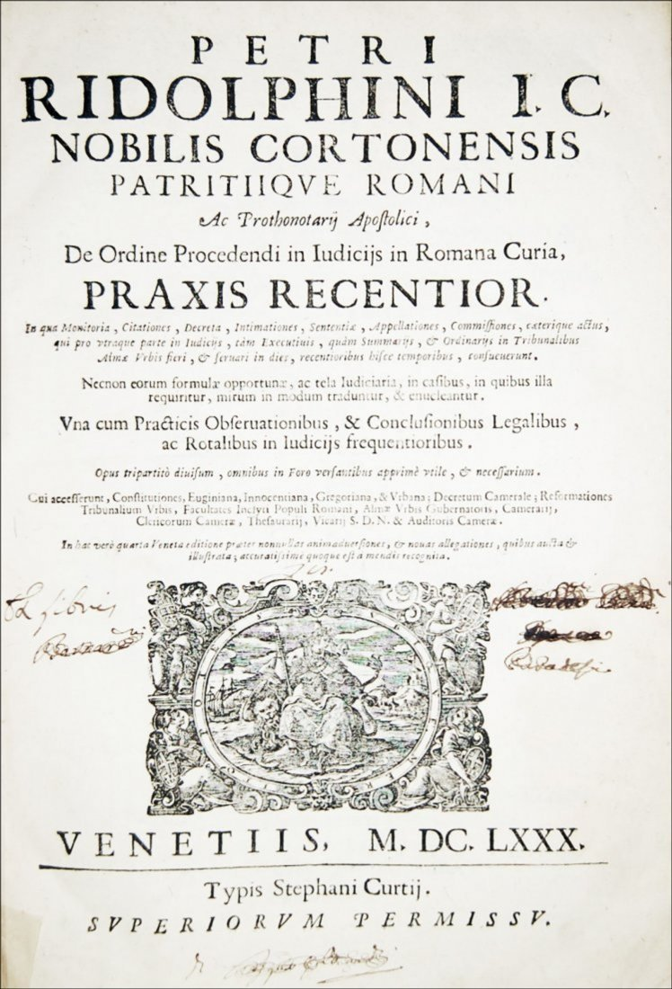 [Canon Law] Ridolfini, Praxis, 1680