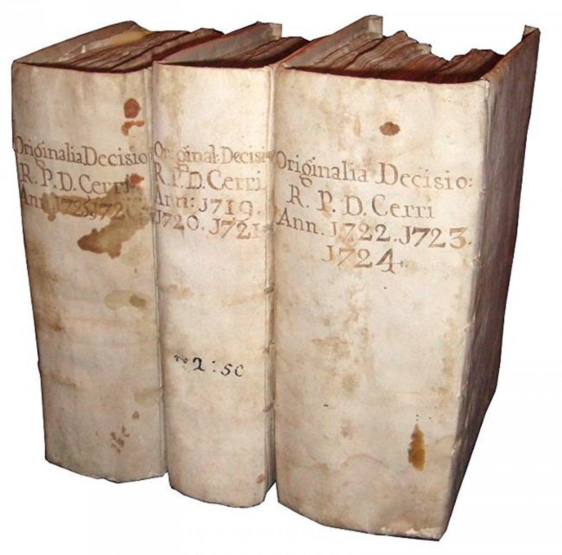 [Manuscripts] Ms Cerri, 1719, 3 vols