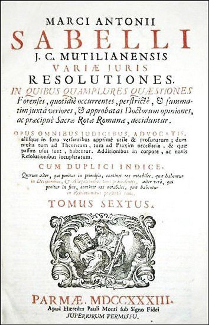[Universal Law, Digest] Savelli, 1733