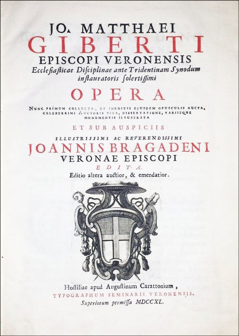 [Italian Statutes, Verona] Giberti, 1740