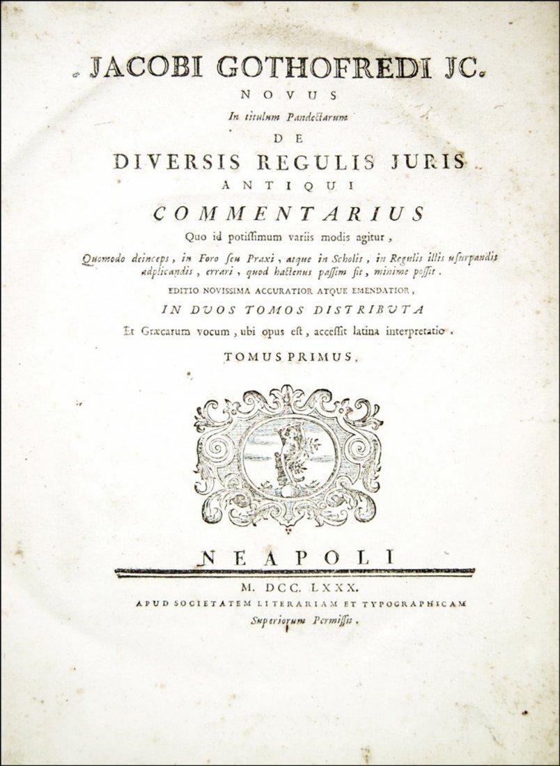 [Roman Law] Gothofredus, Commentarius, 1780