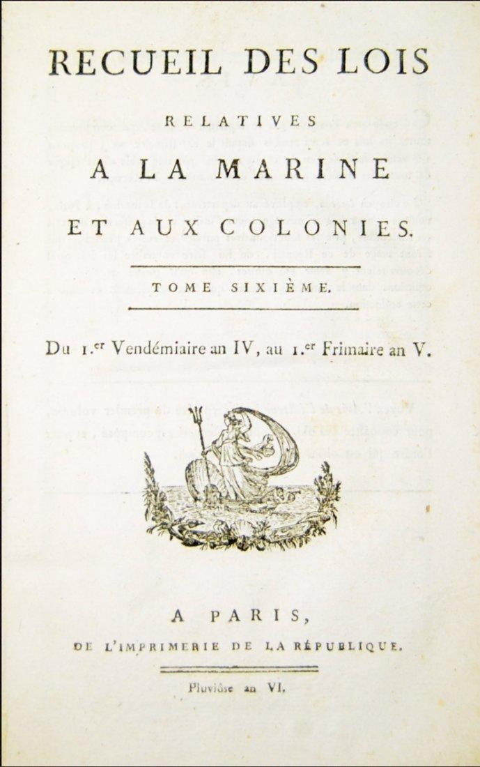 [French Revolution, Maritime Law] Lois de la Marine 7 v