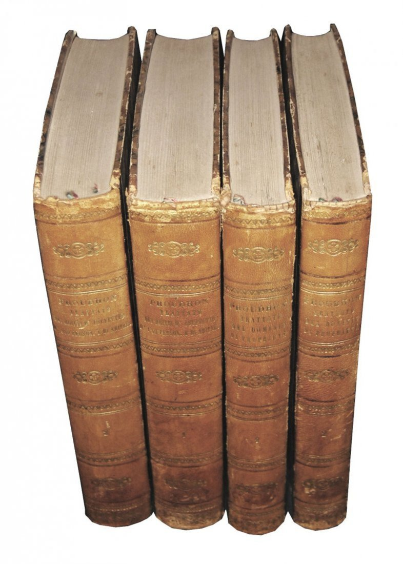 [Properties, Usufruct] Proudhon, Opere, 1844-45, 4 v.