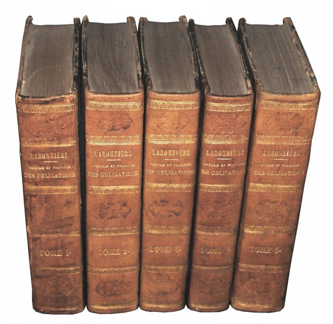 [Napoleon Code, Bonds] Larombiere,Obligations 1857, 5 v